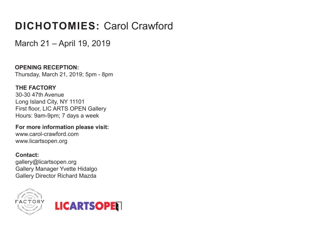 Carol Crawford postcard DICHOTOMIES 2-2