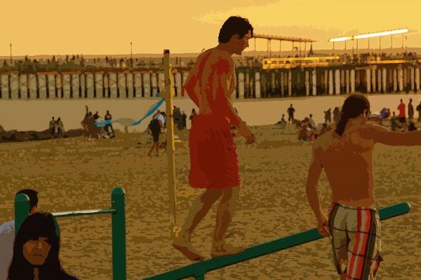 Gary_Schwartz_Summer dusk on Coney Island